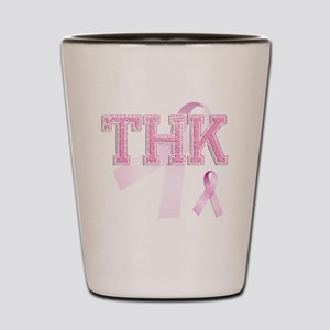 THK initials, Pink Ribbon, Shot Glass