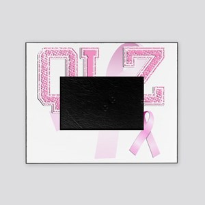 QLZ initials, Pink Ribbon, Picture Frame