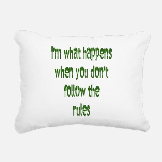 im what happens Rectangular Canvas Pillow
