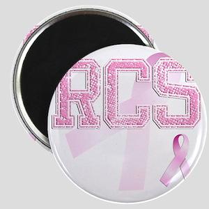 RCS initials, Pink Ribbon, Magnet