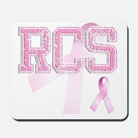 RCS initials, Pink Ribbon, Mousepad