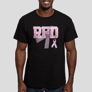 RFD initials, Pink Rib Men's Fitted T-Shirt (dark)