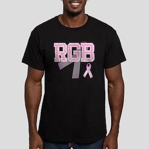 RGB initials, Pink Rib Men's Fitted T-Shirt (dark)