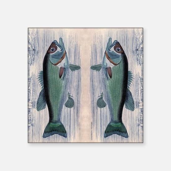 "Vintage Fish Square Sticker 3"" x 3"""