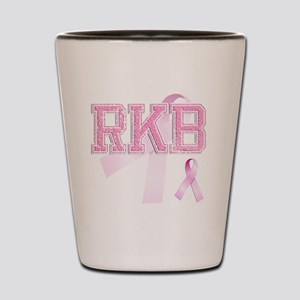RKB initials, Pink Ribbon, Shot Glass