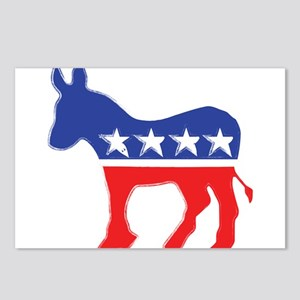Democratic Donkey Postcards (Package of 8)