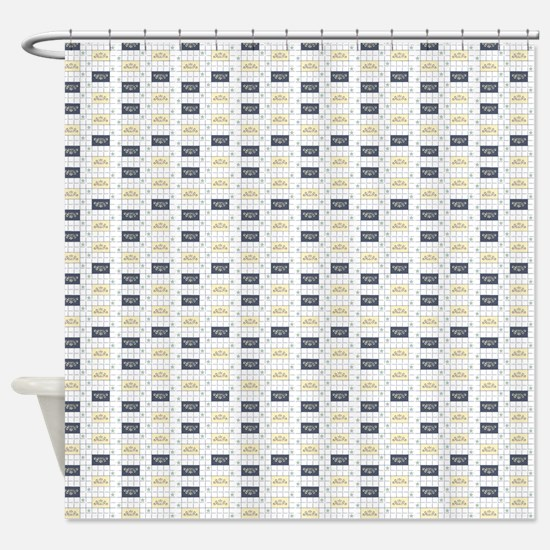 Geometric Flourish Shower Curtain