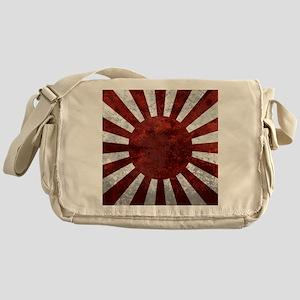 Japanes Land Rising Sun Square Messenger Bag