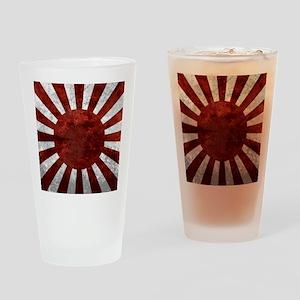 Japanes Land Rising Sun Square Drinking Glass