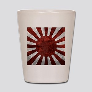 Japanes Land Rising Sun Square Shot Glass