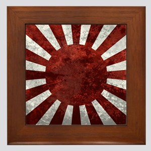 Japanes Land Rising Sun Square Framed Tile