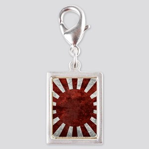 Japanes Land Rising Sun Squa Silver Portrait Charm