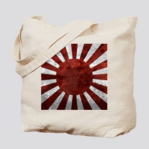 Japanes Land Rising Sun Square Tote Bag