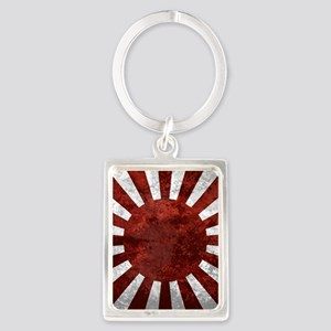 Japanes Land Rising Sun Square Portrait Keychain