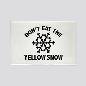 Don't Eat The Yellow Snow Rectangle Magnet