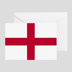 NC English Flag - St. Georges Cross Greeting Card