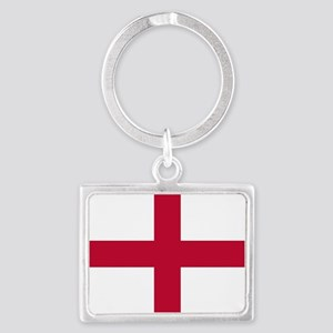 NC English Flag - St. Georges C Landscape Keychain