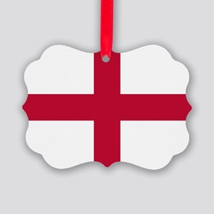 NC English Flag - St. Georges Cro Picture Ornament