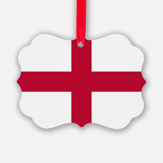 NC English Flag - St. Georges Cro Ornament