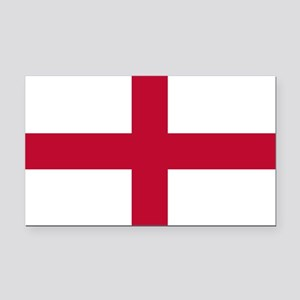 NC English Flag - St. Georges Rectangle Car Magnet