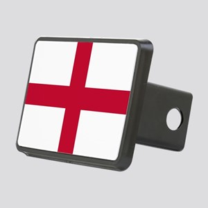 NC English Flag - St. Geor Rectangular Hitch Cover