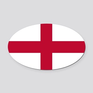 NC English Flag - St. Georges Cros Oval Car Magnet