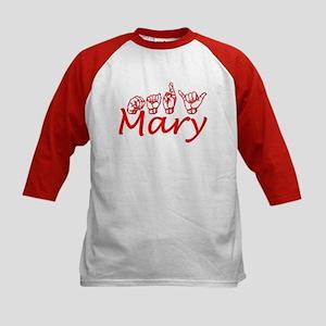 Mary Kids Baseball Jersey