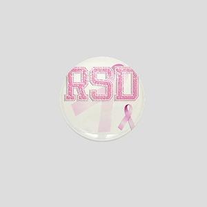 RSD initials, Pink Ribbon, Mini Button