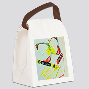 Crayon Butterfly Canvas Lunch Bag