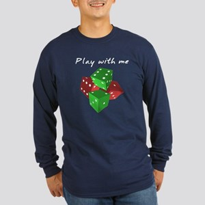 Play with me Long Sleeve Dark T-Shirt
