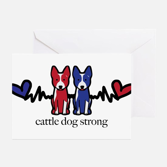 Cattle Dog Strong Greeting Cards (pk Of 10)