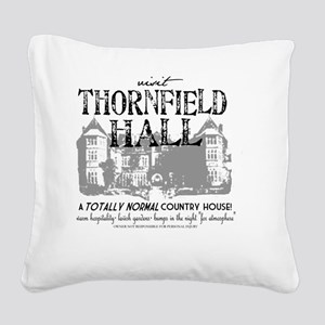 Visit Thornfield Hall Square Canvas Pillow
