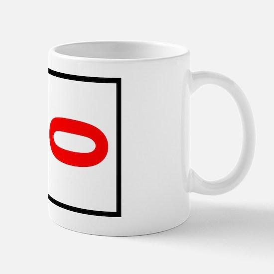 0 Autocross Number Plates Mug