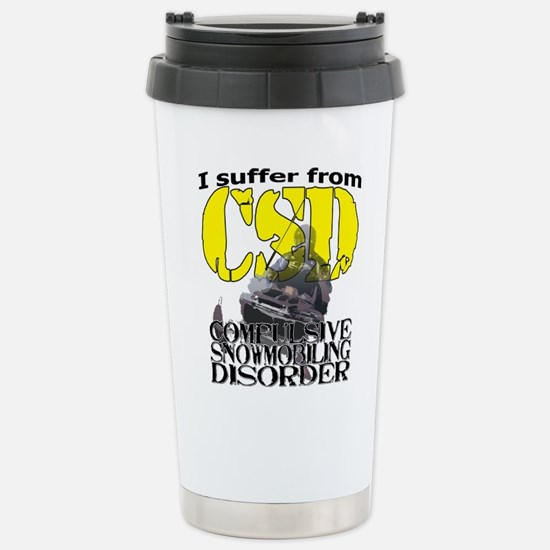 CSD Compulsive Snowmobi Stainless Steel Travel Mug