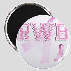 RWB initials, Pink Ribbon, Magnet