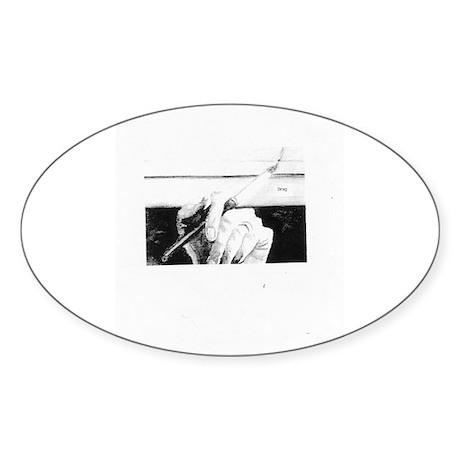 Drag Logo Oval Sticker