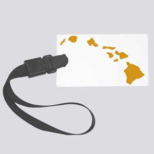 Hawaiian Islands Gold Large Luggage Tag