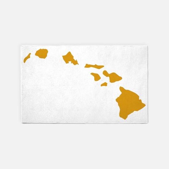 Hawaiian Islands Gold 3'x5' Area Rug