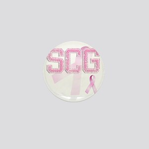 SCG initials, Pink Ribbon, Mini Button