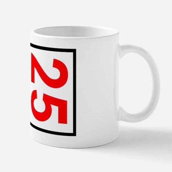 25 Autocross Number Plates Mug