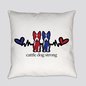 cattle dog strong Everyday Pillow