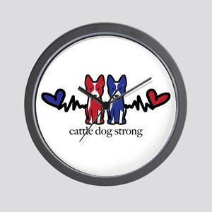 cattle dog strong Wall Clock