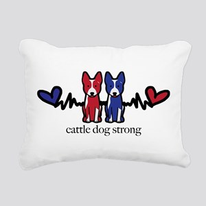 cattle dog strong Rectangular Canvas Pillow