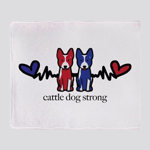 cattle dog strong Throw Blanket