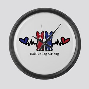 cattle dog strong Large Wall Clock