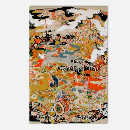 LUXURIOUS ANTIQUE JAPANES Postcards (Package of 8)