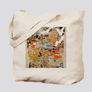LUXURIOUS ANTIQUE JAPANESE KIMONO FOR FOR Tote Bag