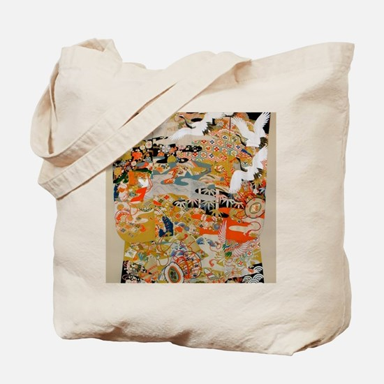 LUXURIOUS ANTIQUE JAPANESE KIMONO FOR FOR Tote Bag