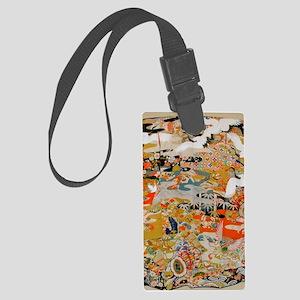LUXURIOUS ANTIQUE JAPANESE KIMON Large Luggage Tag