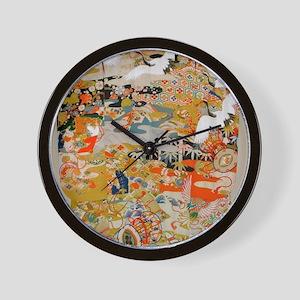LUXURIOUS ANTIQUE JAPANESE KIMONO FOR F Wall Clock